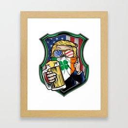 St. Patrick Day Donald Trump Framed Art Print