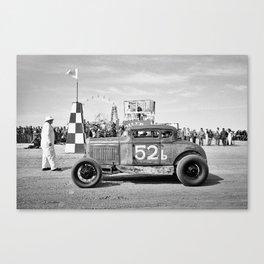 The Race of Gentlemen bw 3 Canvas Print