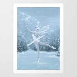Snow Dancer Art Print