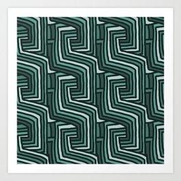 AQUA LINEA Art Print