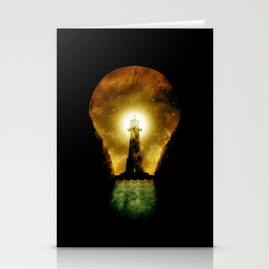 reach for the light Stationery Cards