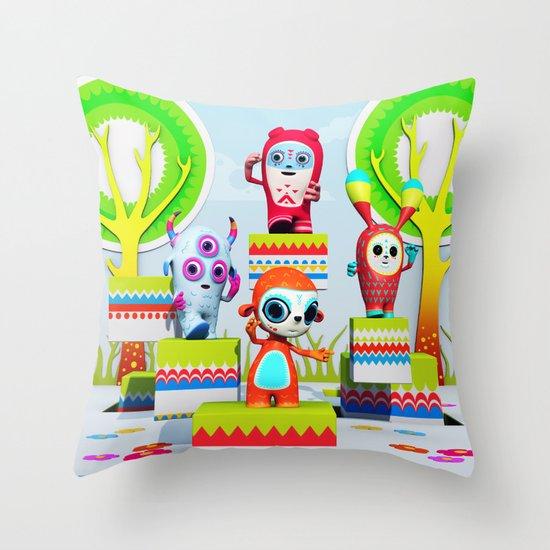 Pixy Wonderland Throw Pillow