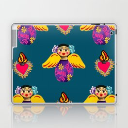 Angels and Corazones (flaming hearts) Laptop & iPad Skin