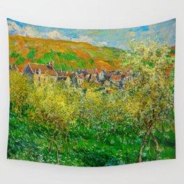 Flowering Plum Trees, 1879. Artist: Monet, Claude (1840-1926) Wall Tapestry
