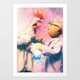 Muppets - Beaker & Bunsen Art Print