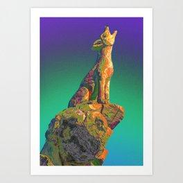 Coyote Call Art Print