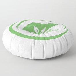 leaves symbolizing Vegetarian friendly diet by European Vegetarian Union Floor Pillow