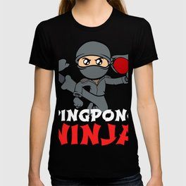 Big fan of table tennis? Here's a shirt with a twist. Ninja Playing Table Tennis Pingpong Racket T-shirt