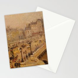 Camille Pissarro - The Pont-Neuf, Mist (Second Series) Stationery Cards