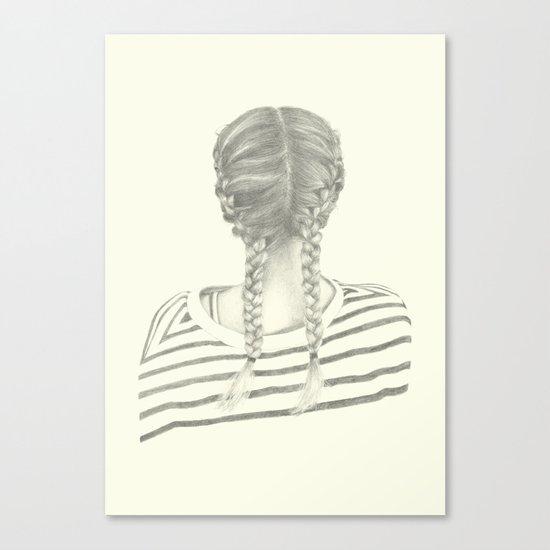 French braids 01 Canvas Print