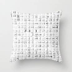 300 smileys| 300 fonts Throw Pillow