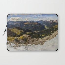 view from sass pordoi - Dolomites Panorama Laptop Sleeve