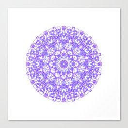 Mandala 12 / 1 eden spirit purple lilac white Canvas Print