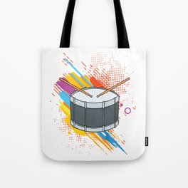 Drumline Drums Drumming Marching Band Drummer Gift Tote Bag