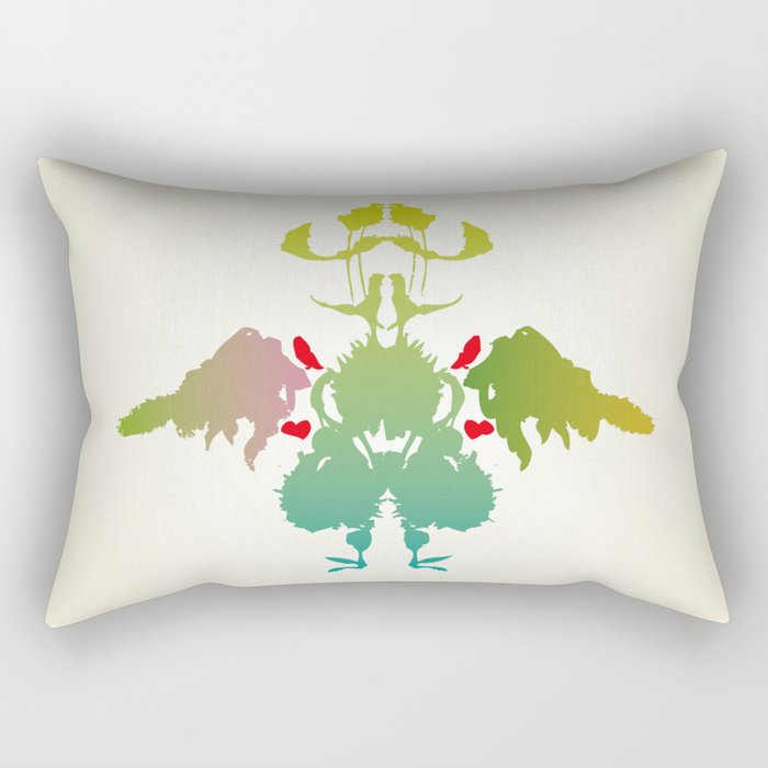 Rorschach Chicken Rectangular Pillow