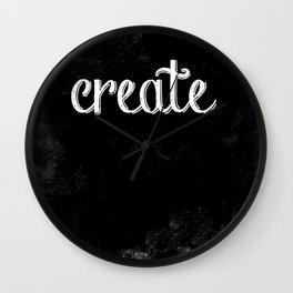 Create - a Chalkboard Message Wall Clock