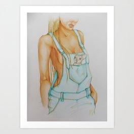 CanguGirl Art Print