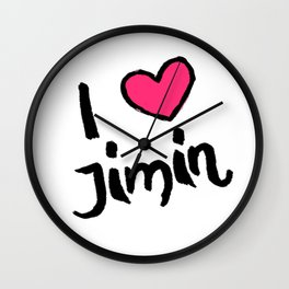 kpop idol jimin love fangirl Wall Clock