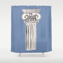 Greek ionic column Shower Curtain