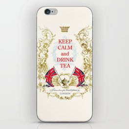 Keep calm and drink tea iPhone Skin