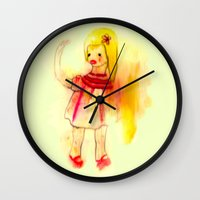 dirty dancing Wall Clocks featuring Dirty by Maude Cournoyer