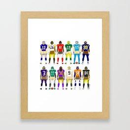 Football Butts Framed Art Print