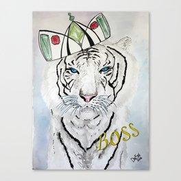 White Tiger BOSS Poster Canvas Print