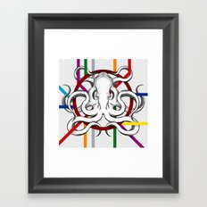 octopus/metro Framed Art Print