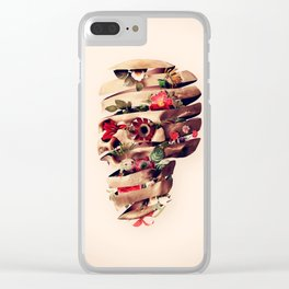 Peeled Skull Clear iPhone Case
