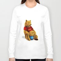 pooh Long Sleeve T-shirts featuring Pooh by J ō v