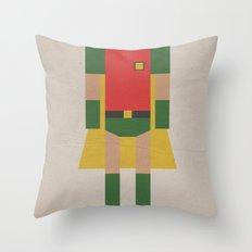 Retro Robin Throw Pillow