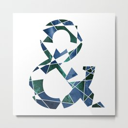 Ampersand Abstract Metal Print