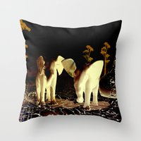 baby elephant Throw Pillows featuring Baby elephant by nicky2342
