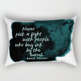 ink | mark twain Rectangular Pillow