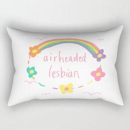 airheaded lesbian Rectangular Pillow