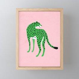 The Stare 2: Tropical Green Cheetah Edition Framed Mini Art Print
