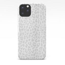 Pale Gray Leopard iPhone Case