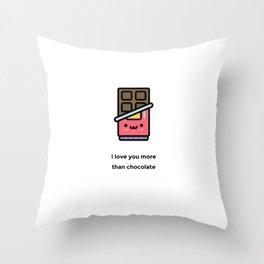 JUST A PUNNY CHOCOLATE JOKE! Throw Pillow