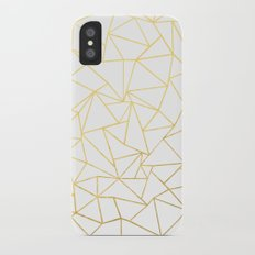 Ab Outline White Gold iPhone X Slim Case