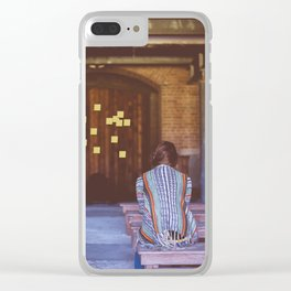 Temple Sticky Notes Clear iPhone Case