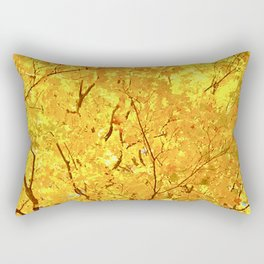 Bright Yellow Fall Maple Leaves I Rectangular Pillow
