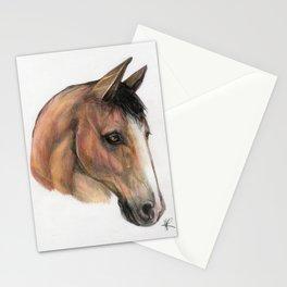 Horse head, equestrian, original art print Stationery Cards