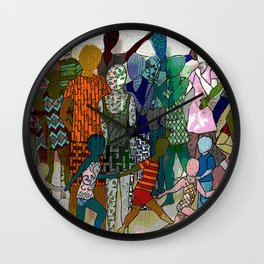 To the Beach by Lesley Nolan Wall Clock