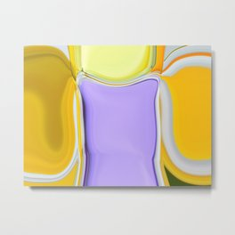 Abstract Sweet Shapes Metal Print