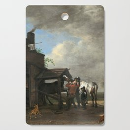 Paulus Potter A Farrier's Shop Cutting Board