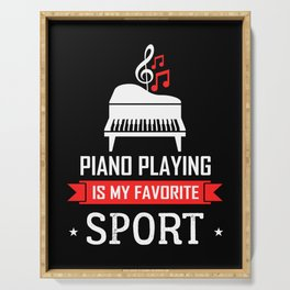 Piano musician concert orchestra pianist Serving Tray