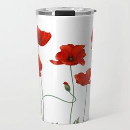 Poppy Stems Travel Mug