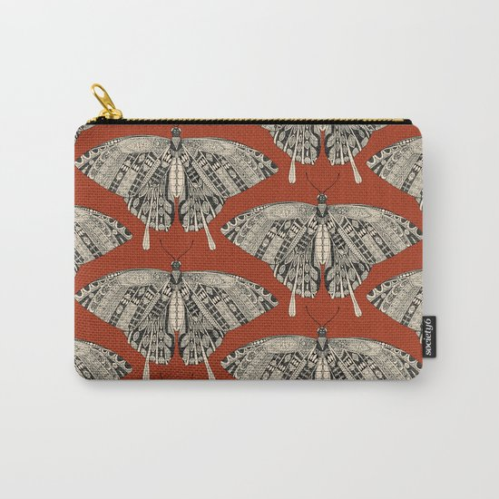 swallowtail butterfly terracotta black Carry-All Pouch
