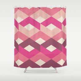 Pink Fancy Pattern Shower Curtain
