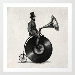 Music Man (monochrome option) Art Print